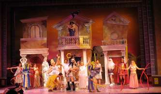 A Funny Thing Happened On The Way To The Forum Gennie Neuman Lambert Scenic Design